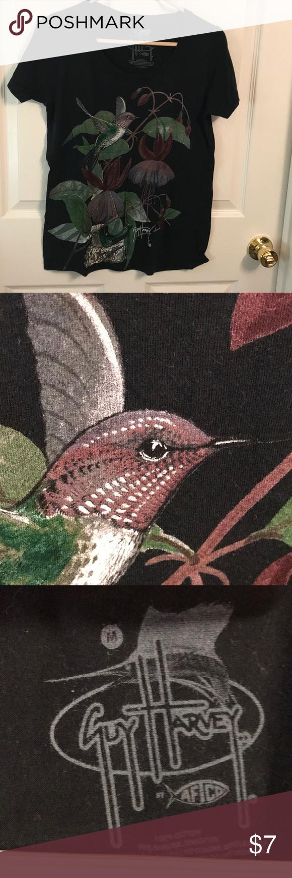 Guy harvey hummingbird black tee