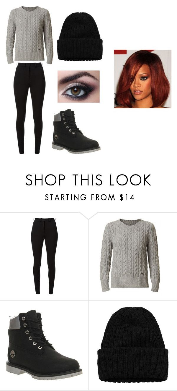 """""""Untitled #1066"""" by jblizz on Polyvore featuring Victoria Beckham, Burberry, Timberland and Monki"""