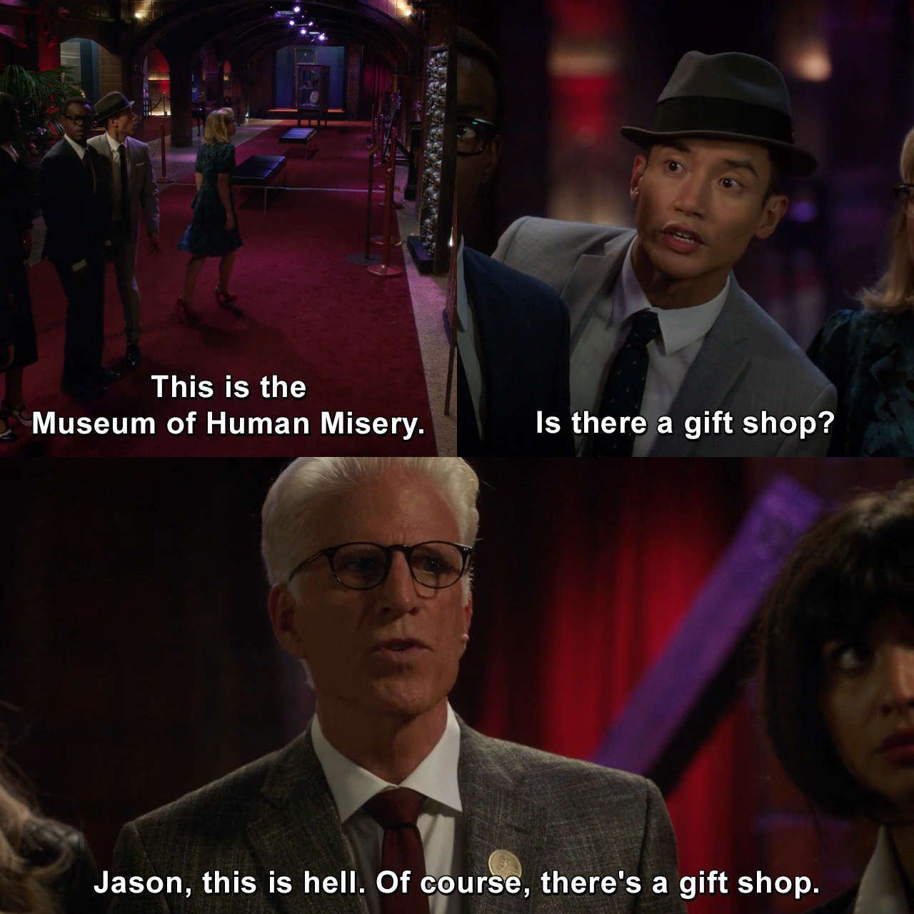 The Good Place - Rhonda, Diana, Jake, and Trent # ...