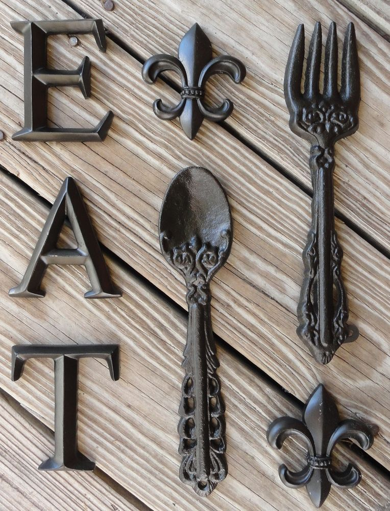 Fleur De Lis Kitchen Decor Shabby Gift Ideas Wall Decor Cast Iron