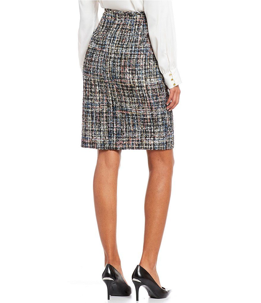 e992c54ec0 Calvin Klein Multi-Color Boucle Suiting Open-Front Jacket in 2019 ...