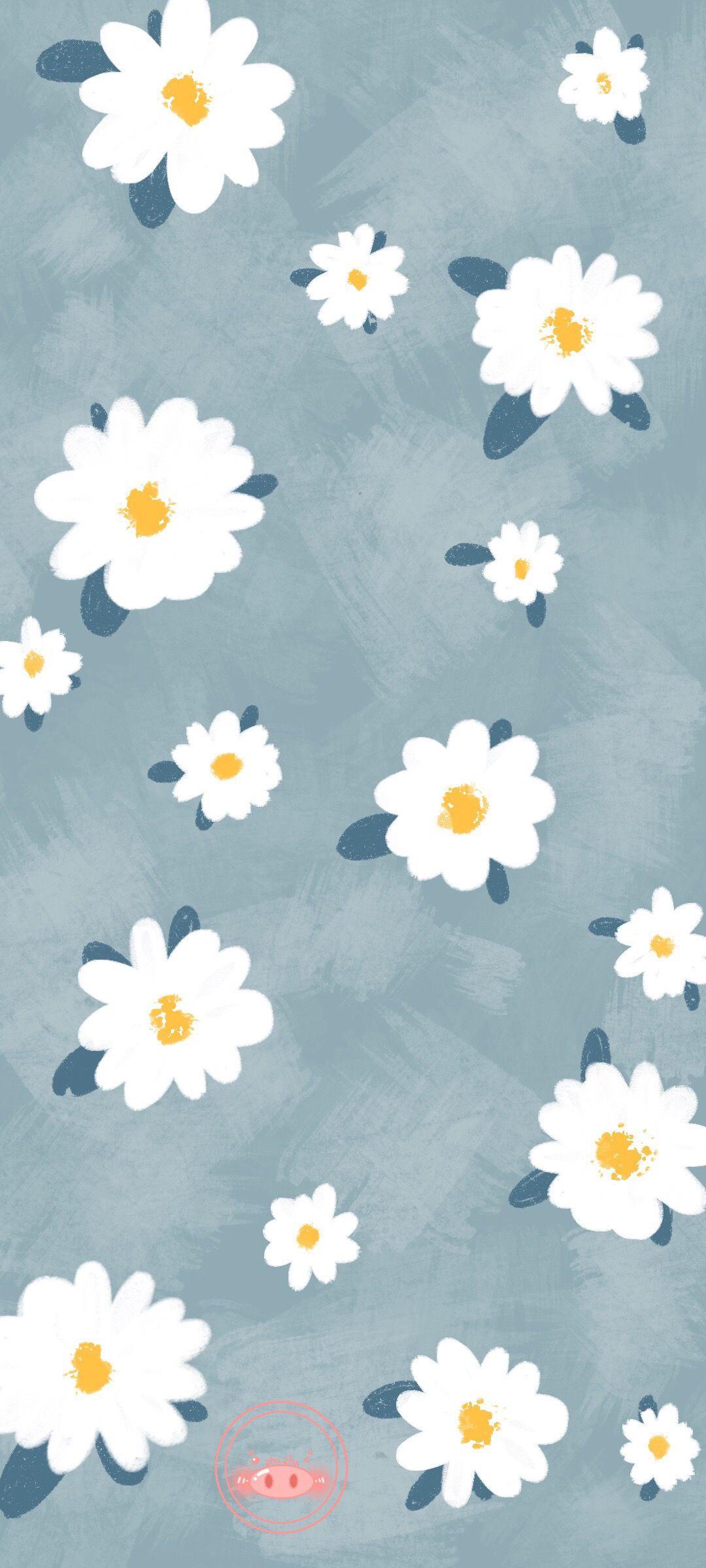Wallpaper Bunga Putih