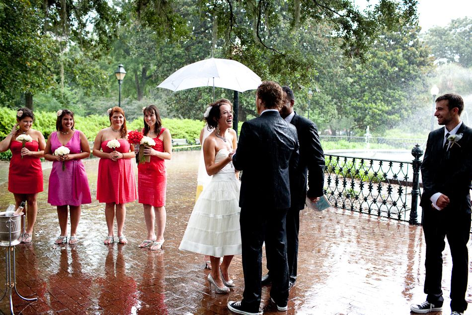 A Little Rain Is Good Luck On Your Wedding Day!