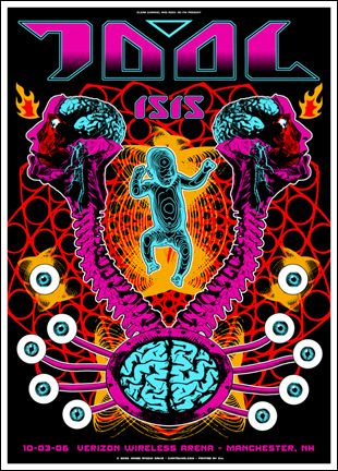 Tool Classic Rock Music Concert Poster Psychedelic Hippie Style Concert Poster Art Poster Art Music Concert Posters