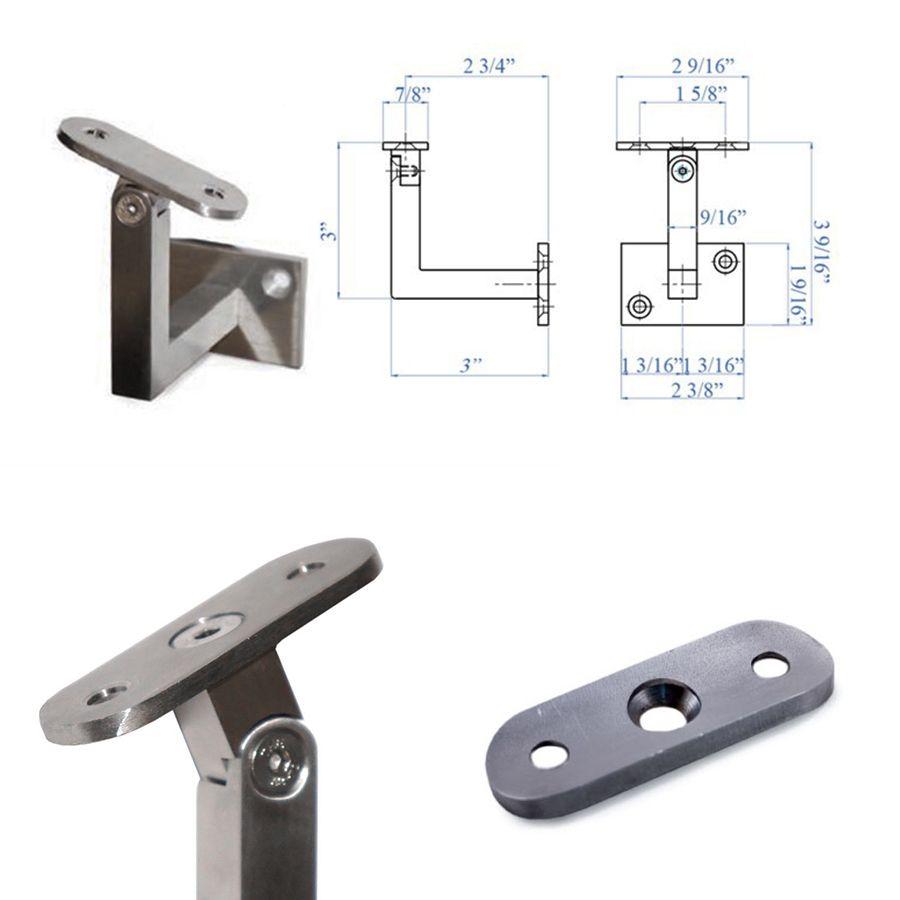 Best Adjustable Wall Rail Bracket For Square Railing System En 400 x 300