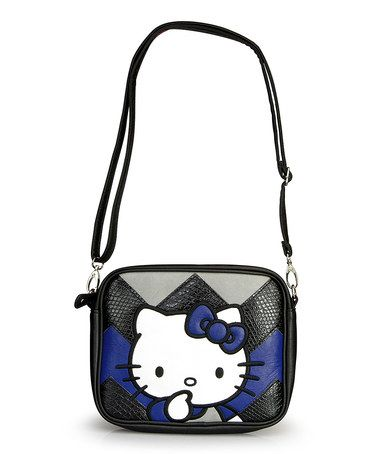 123750c76 This Blue & Gray Zigzag Hello Kitty Crossbody Bag by Loungefly is perfect!  #zulilyfinds