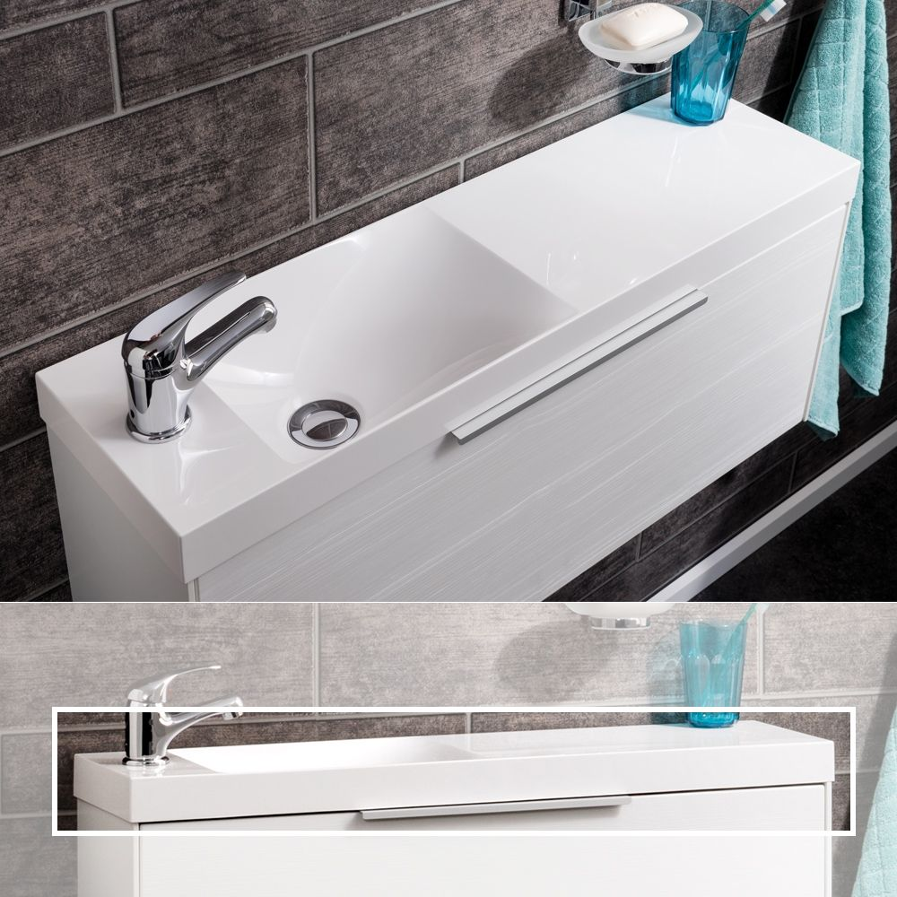Fackelmann Gussmarmor Design Waschtisch Slim Mindertiefe 22cm