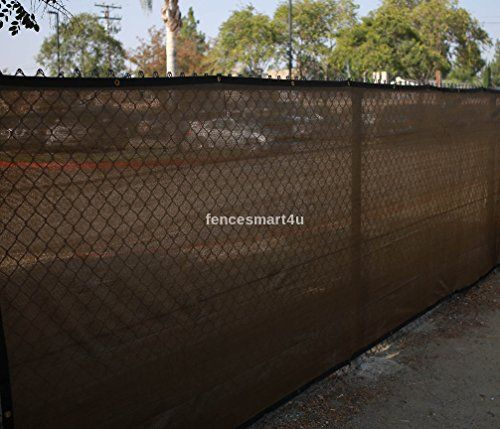 4 X 25 Brown Uv Rated 85 Blockage Fence Privacy Screen Windscreen Shade Cover Fabric Mesh Tarp Wgrommets 145gsm You C Shade Cover Wind Screen Privacy Screen