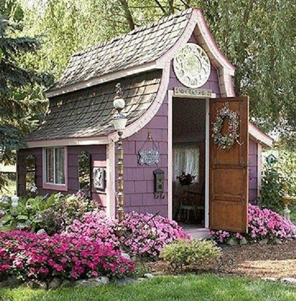 Garden Sheds That Look Like Houses do you like the feminine, victorian look? maybe your she shed