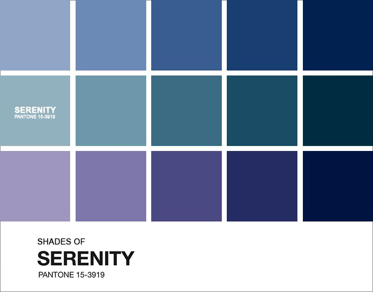 Preferência A Cor do Ano 2016: Serenity | Pantone color, Pantone and Year 2016 XI76