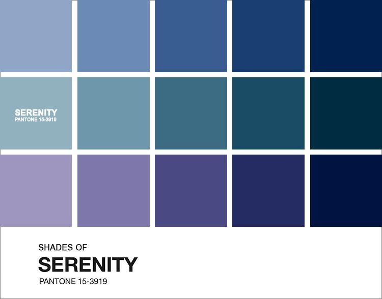 Tons de azul serenity color pinterest azul paletas - Carta de colores azules ...