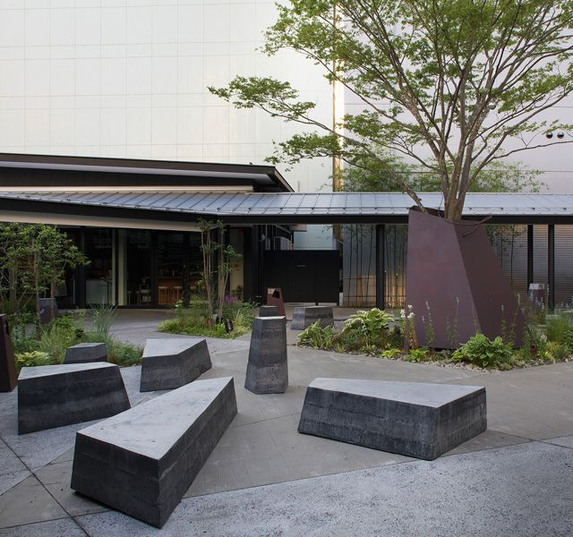 Concrete Benches コンクリート家具 モダンガーデンデザイン モダンガーデン 400 x 300
