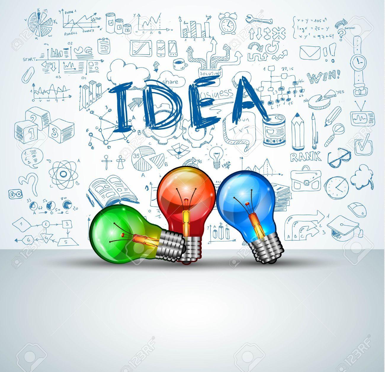 Dise o de infograf a de lluvia de ideas concepto de fondo for Ideas para diseno grafico