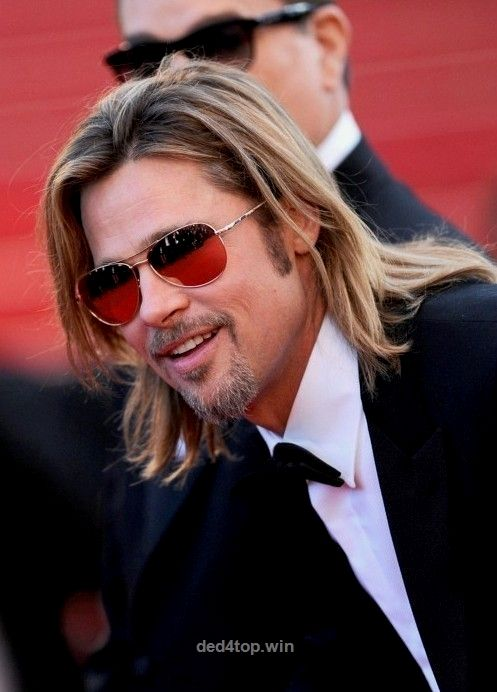 brad pitt layered long hairstyle for men – hairstyles weekly   the