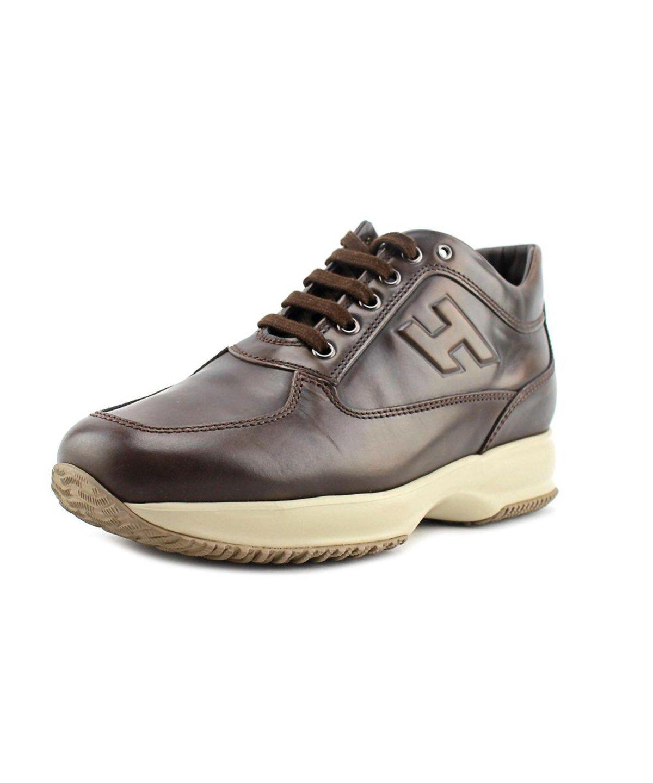 HOGAN Hogan Interactive Uomo H Rilievo Round Toe Leather Sneakers .  hogan   shoes  sneakers 443b46a5063