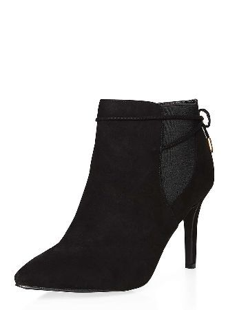 Dorothy Perkins Womens Wide fit Black Wales Pointed Boots- Black Wales  suedette pointed boots.