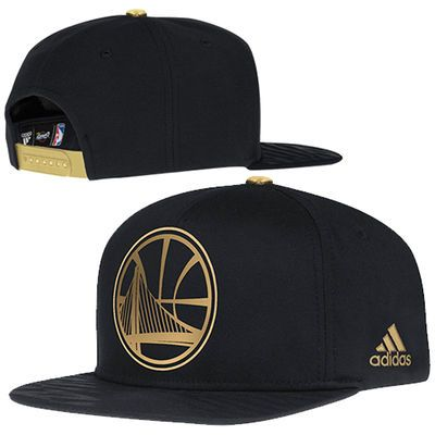 751f0226991c3 Mens Golden State Warriors adidas Black Precious Metals Adjustable Snapback  Hat