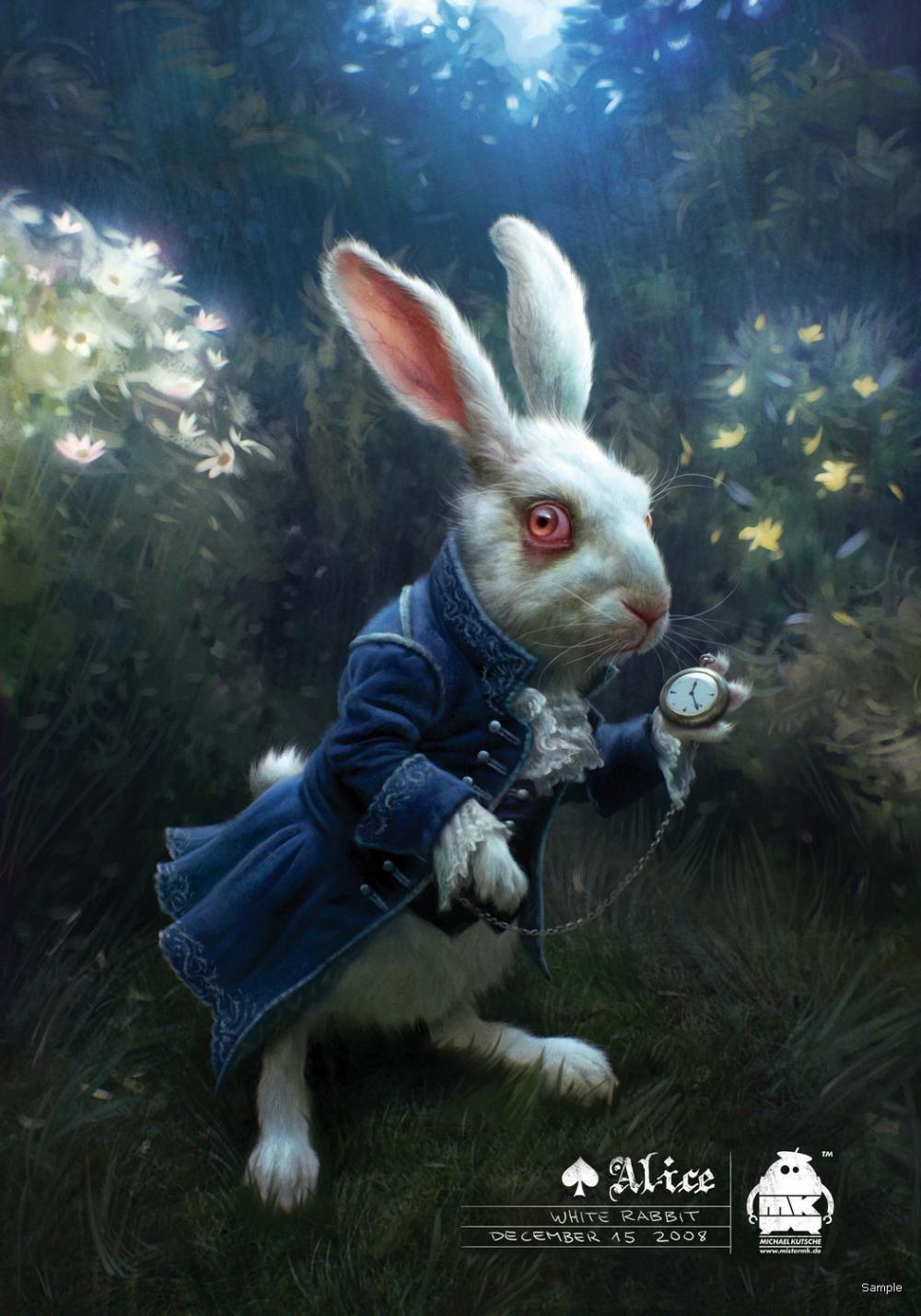 Белый кролик картинки алиса, мартом жене