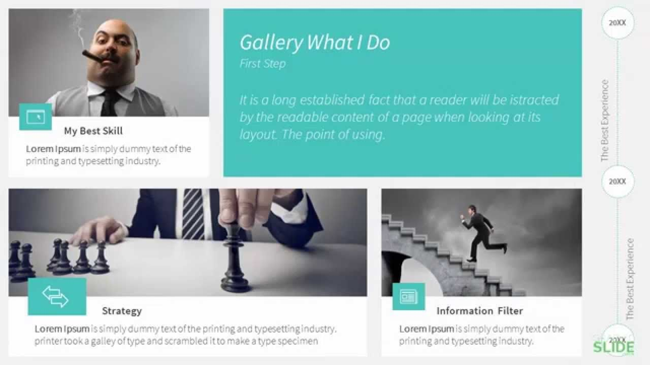 weekly free download - personal resume / cv / portfolio, Presentation templates