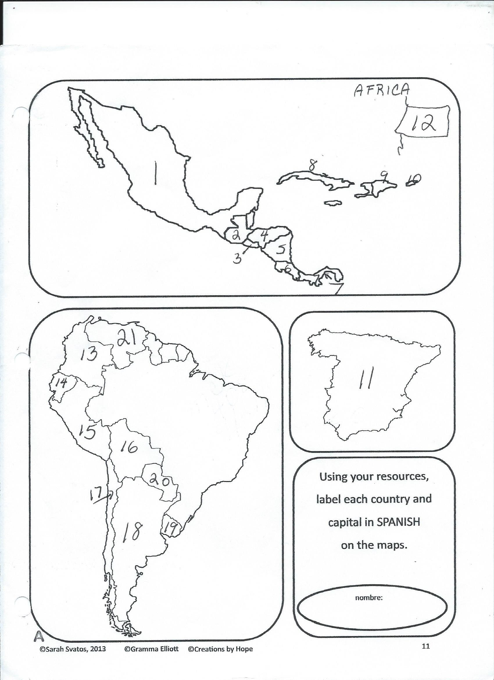 Spanish Speaking Countries Worksheet All 20 Spanish Speaking Countries And Capitals U U Uso O U How To Speak Spanish Spanish Speaking Countries Learning Maps