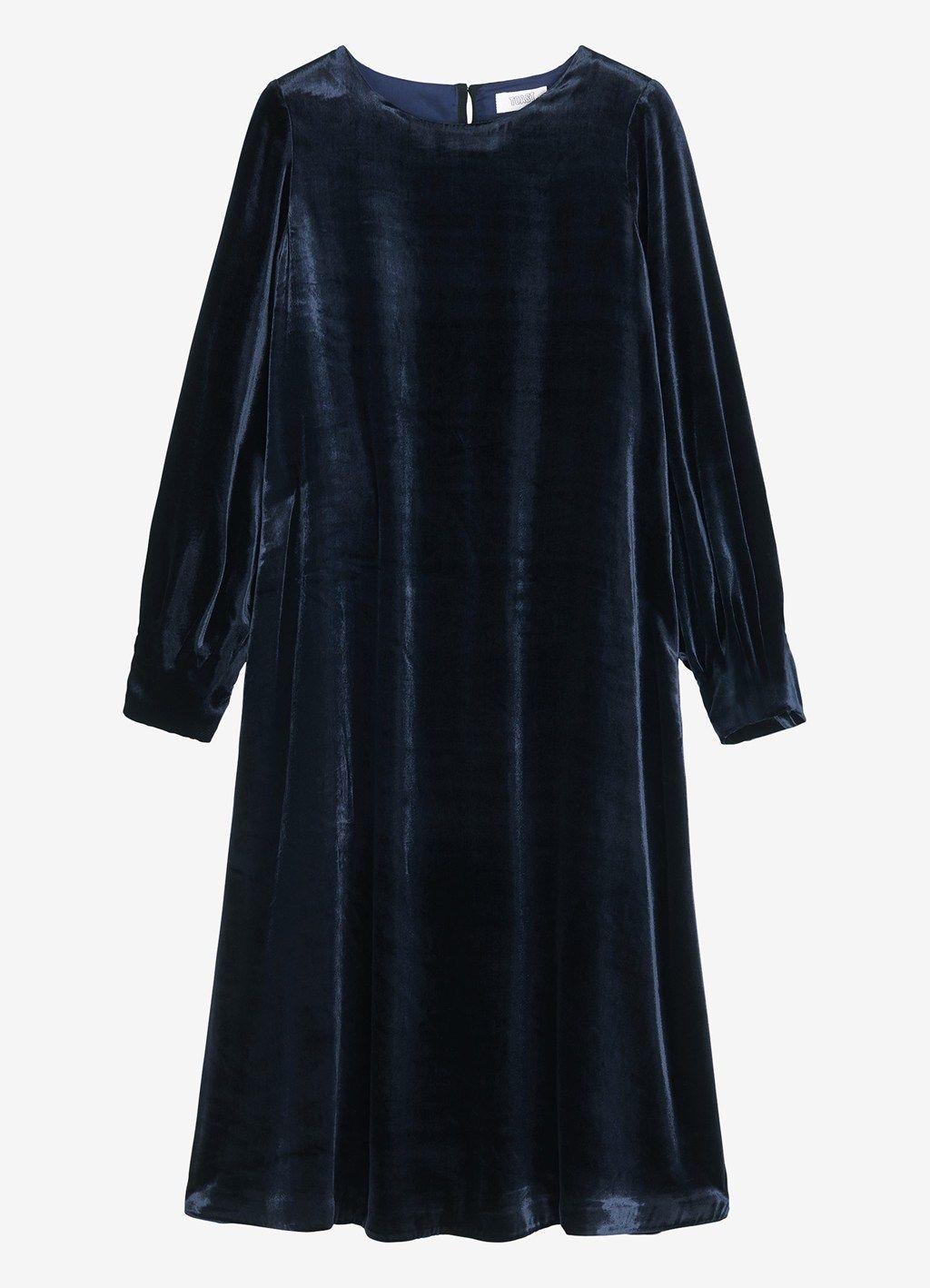 efa75b8c SILK VELVET SWINGY DRESS by TOAST   Dressmaking   Dresses, Velvet ...