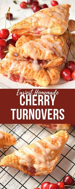Cherry Turnovers{With Puff Pastry}
