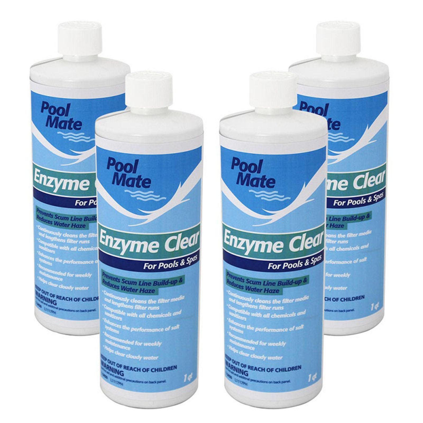 Pool Mate 1 qt. Enzyme Clear for Swimming Pools and Spas ...