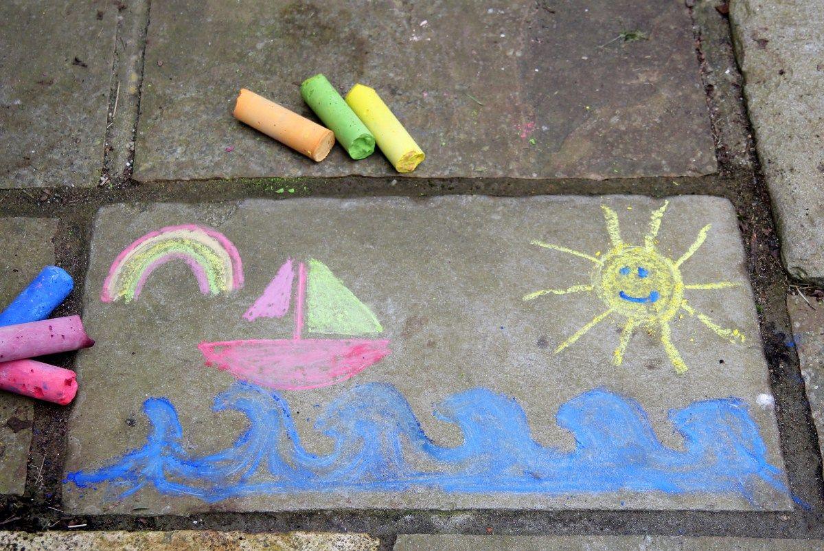 Make Giant Chalk sticks -- DIY
