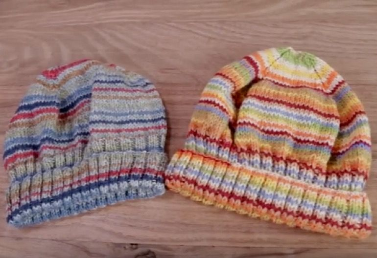 How to change colors in knitting and make stripes