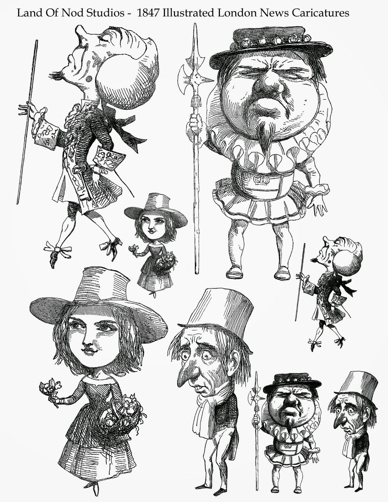 Caricatures from my 1847 Illustrated London News bound