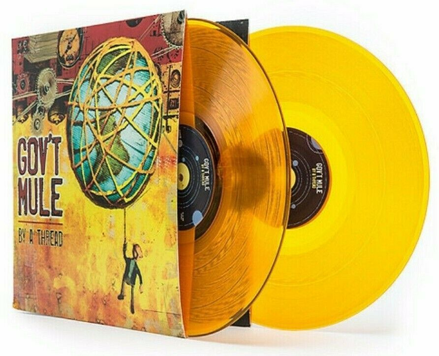 Gov T Mule By A Thread Latest Pressing In Shrink Lp Yellow Vinyl