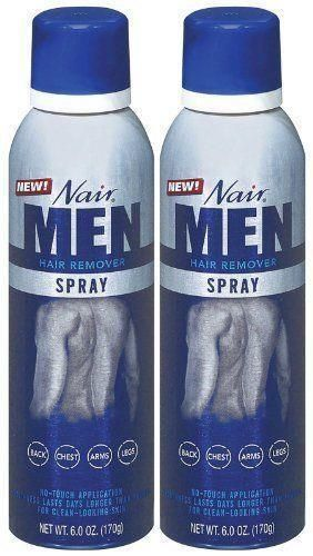 Nair Hair Remover Mens Spray 6oz 2 Pack New Save On Two Free