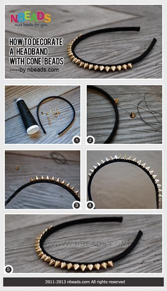 How to Decorate A Headband with Cone Beads – Nbeads