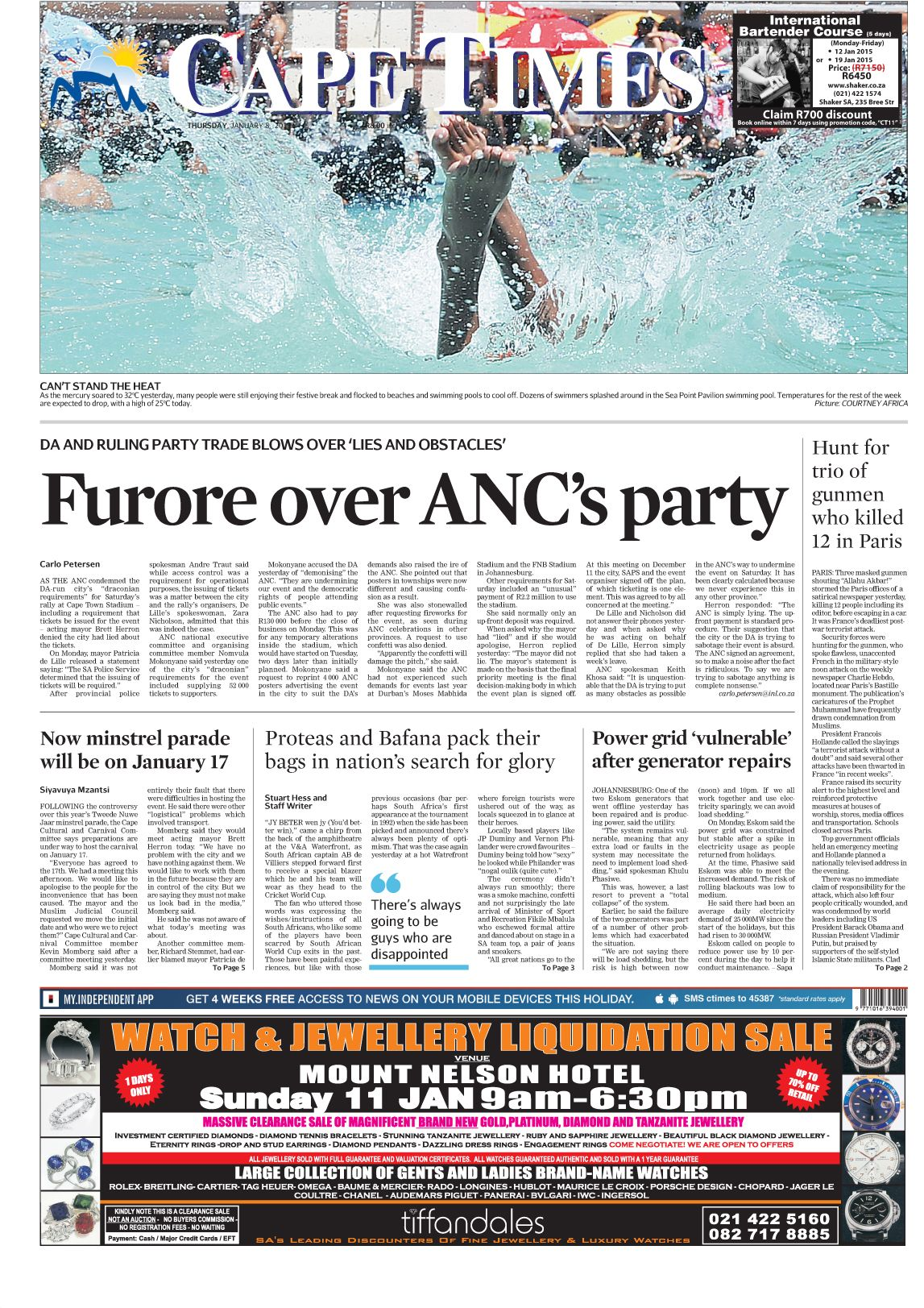 News Making Headlines Furore Over Anc S Party Power Grid Party