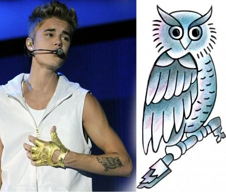 Owl Justin Bieber Tattoo Design Tattootemptation Mens Owl Tattoo Justin Bieber Tattoos Tattoos For Guys