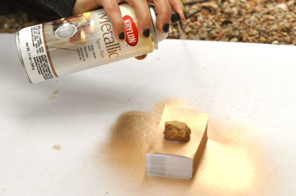Do it yourself gilded business cards...