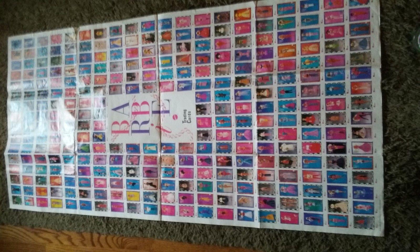 1990 Barie Collector Card Poster   eBay Son 20 filas verticales y 16 tarjetas por fila son 320 tarjetas retratadas en el poster del vendedor.