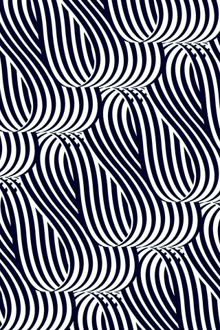 Looped Matt Chase Black And White Stripe Pattern Design