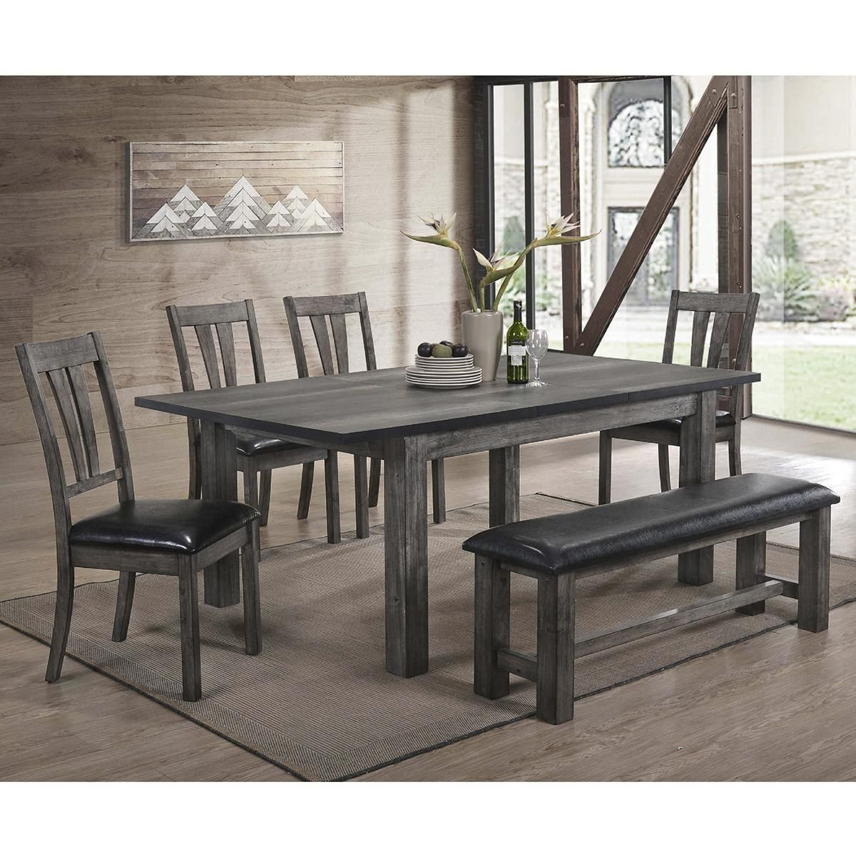 26++ Mayberry hill nathan 6 piece dining set in gray oak Inspiration