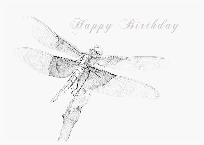 Dragonfly Happy Birthday card #Ad , #AD, #Happy, #