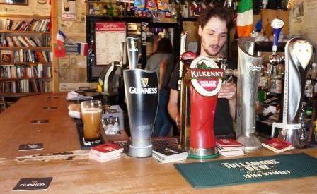Kiwi bartender Richard at Irish pub Cork & Cavan