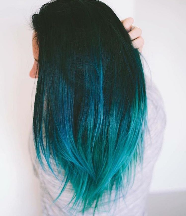 Best 25+ Turquoise Hair Ombre Ideas On Pinterest