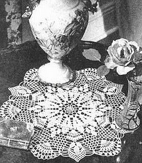 Totally Free Crochet Pattern Blog - Patterns: White Sapphire Doily Free Crochet Pattern 1940s