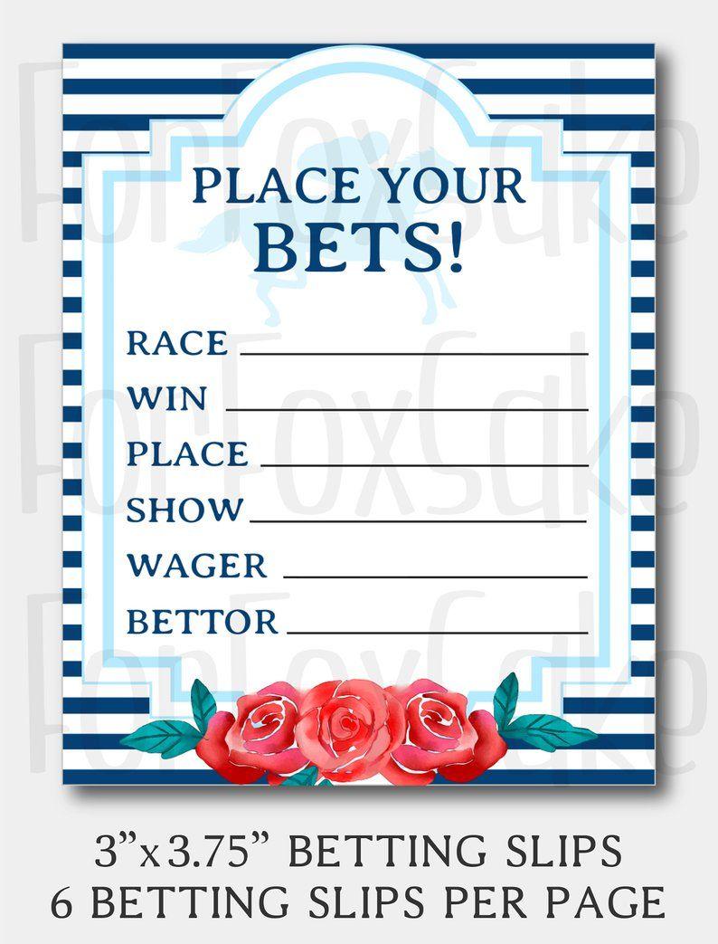 kentucky derby betting slip template