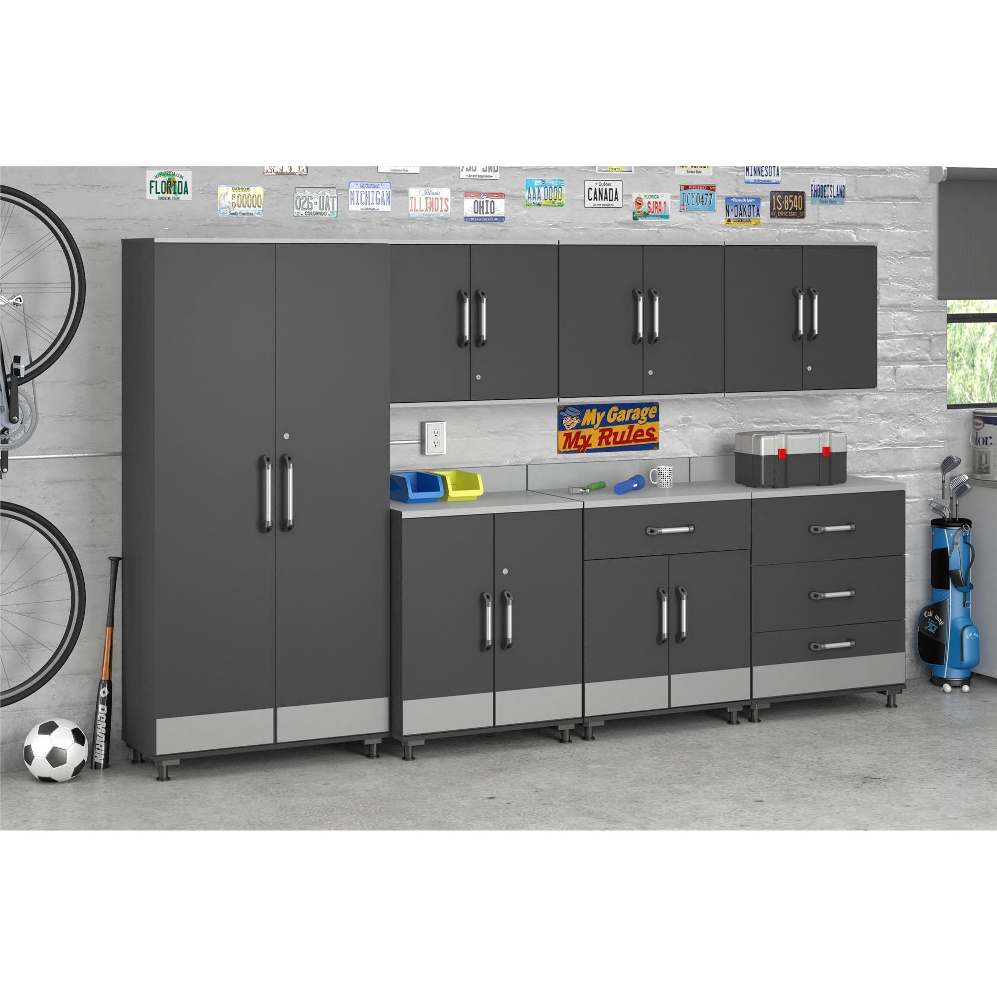 diy shop base cabinets