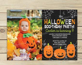 Halloween 1st Birthday Invitation