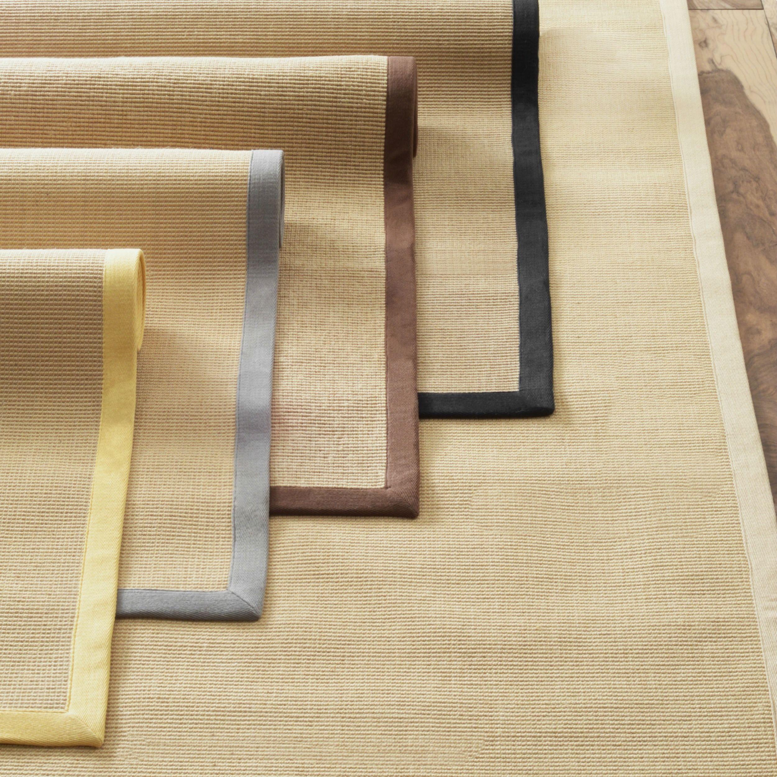 nuLOOM Handmade Alexa Eco Natural Fiber Cotton Border Jute Rug (8' x 10') (Beige), Size 8' x 10'