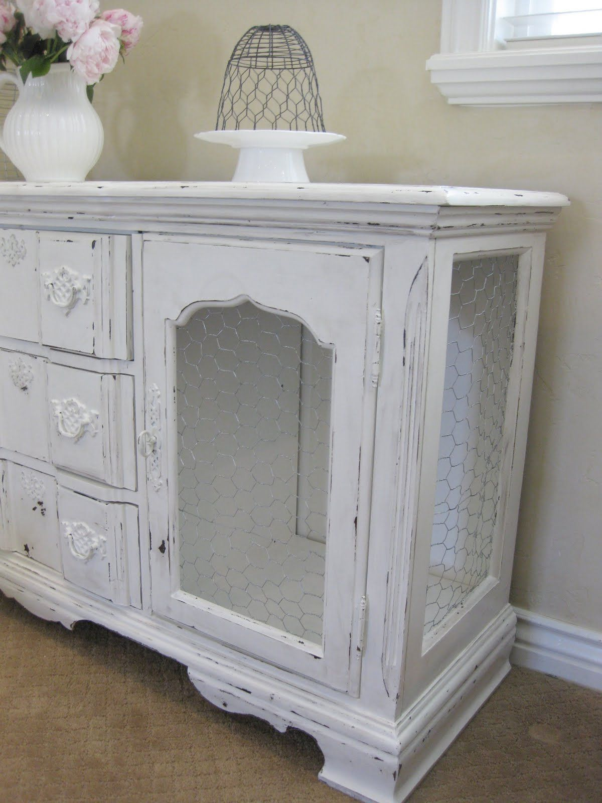 buffett with chicken wire made out of old stereo cabinet   Upcycle ...