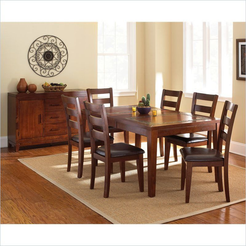 Davenport 5 Piece Dining Slate Table Set
