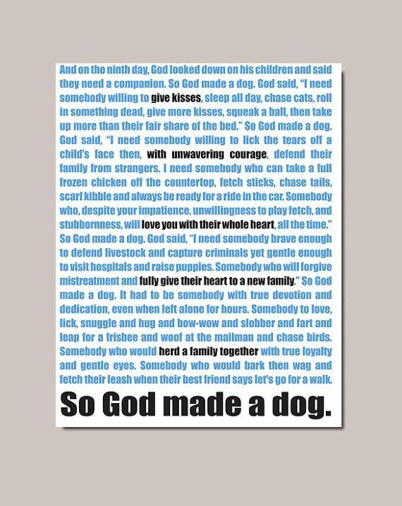 so god made a dog poem